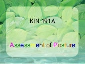Kin191 A. Ch.3. Assessment Of Postu...