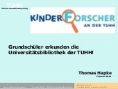 Kinderforscher der TUHH in der Univ...