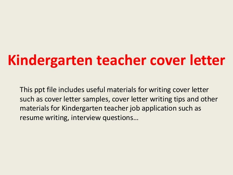How to write an application letter for kindergarten