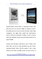 Kindle vs i pad
