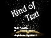Kind of text ruth friskilla