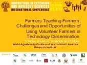 Farmers teaching farmers: challenge...
