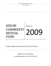 Kissan Commodity Mutual Fund