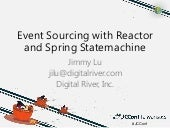 Event sourcing with reactor and spring statemachine