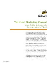 Klout marketing maunal