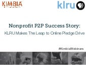 Nonprofit Peer-to-Peer Success Story: KLRU Makes The Leap to Online Pledge Drive