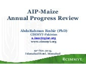 AIP-Maize Annual Progress Revieew