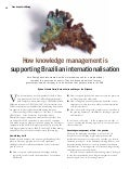How knowledge management is supporting Brazilian internationalization – Inside Knowledge Magazine, UK, september 2008