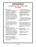Utica Marcellus Texas Pipeline Project Fact Sheet