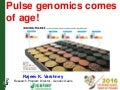 Pulse Genomics Comes of Age