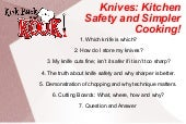 Knife Skills. Kitchen Safety And Si...