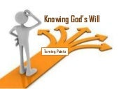 Knowing god's  will v1