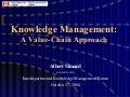 Knowledge Management Value Chains