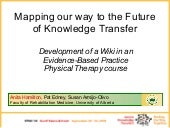 Knowledge Translation Using A Wiki