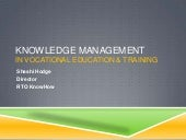 Knowledge management in VET