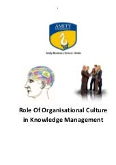 Knowledge management & organizations