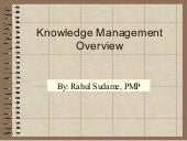 Knowledge Management Overview
