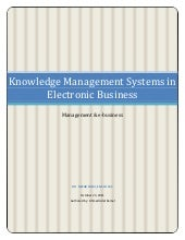 Knowledge management systems in ele...