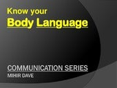 Know your body language