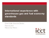 International experience with GHG a...