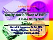 Quality and Outreach of TVET- Zambi...