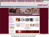 Architectural Design in Digital World