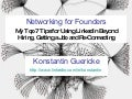Networking and Partnerships - Konstantin Guericke