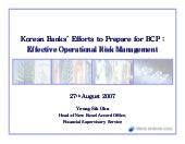 Korean Banks Efforts To Prepare For...