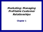 Managing Profitable Customer Relati...