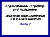 Segmentation, Targeting, and Positi...