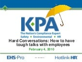 Hard Conversations: How to have tough talks with employees