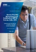 KPMG India Service Provider Performance & Satisfaction Survey 2013