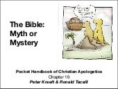 Apologetics, Kreeft chapter 10: The...