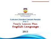 Kssr year 3   yearly lesson plan