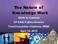 The Nature of Knowledge Work