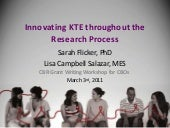 Innovating KTE throughout the Resea...