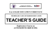 K to 12 automotive teachers guide