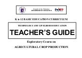 K to 12 crop production teaching gu...