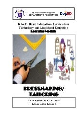 K to 12 dressmaking learning module