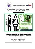 K to 12 household services learning module