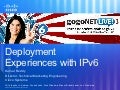 Enterprise Deployment at Cisco, the Enterprise by Kumar Reddy at gogoNET LIVE! 3 IPv6 Conference