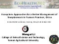 Ecosystem approaches for a better management of Toxoplasmosis in Yunnan Province, China