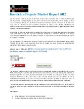 Kurdistan projects market report 2012