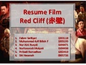 Resume Film Red Cliff