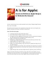 A is for Apple: Sweet and Delicious...