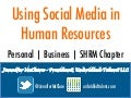 Using Social Media In HR And For SHRM Chapters