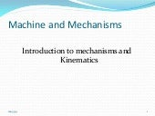machine and mechanisms