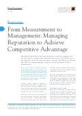 From measurement to management