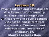 Personality disorder and mental ret...
