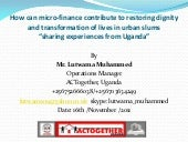 Lutwama Muhammed, How Can Microfina...